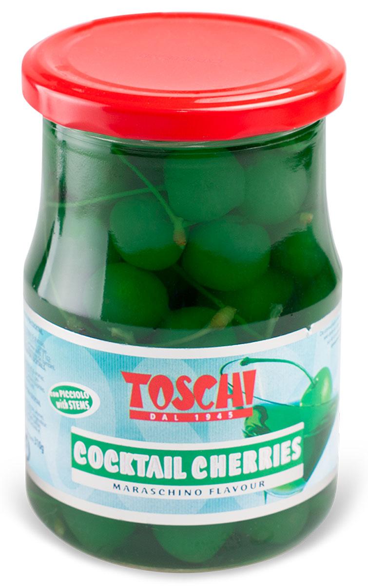 Toschi Черешня зеленая для коктейля, 630 г
