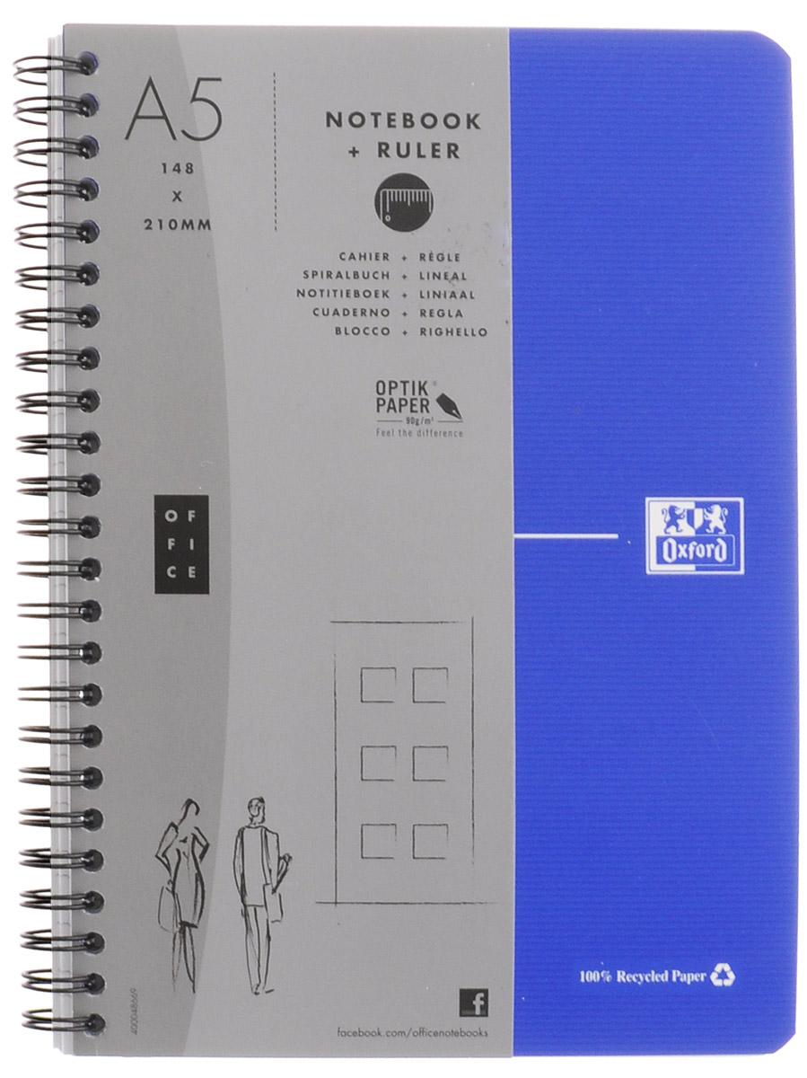 Oxford Тетрадь Эко 90 листов в клетку цвет синий100104311, 817835_синийКрасивая и практичная тетрадь Oxford Эко отлично подойдет для школьников, студентов и офисных служащих. Обложка тетради выполнена из плотного, но гибкого картона с закругленными краями. Тетрадь формата А5 состоит из 90 белых листов на двойном гребне с линовкой в клетку. Практичное и надежное крепление на гребне позволяет отрывать листы и полностью открывать тетрадь на столе. Тетрадь дополнена съемной закладкой-линейкой из гибкого пластика и листом со справочной информацией. Вне зависимости от профессии и рода деятельности у человека часто возникает потребность сделать какие-либо заметки. Именно поэтому всегда удобно иметь эту тетрадь под рукой, особенно если вы творческая личность и постоянно генерируете новые идеи.
