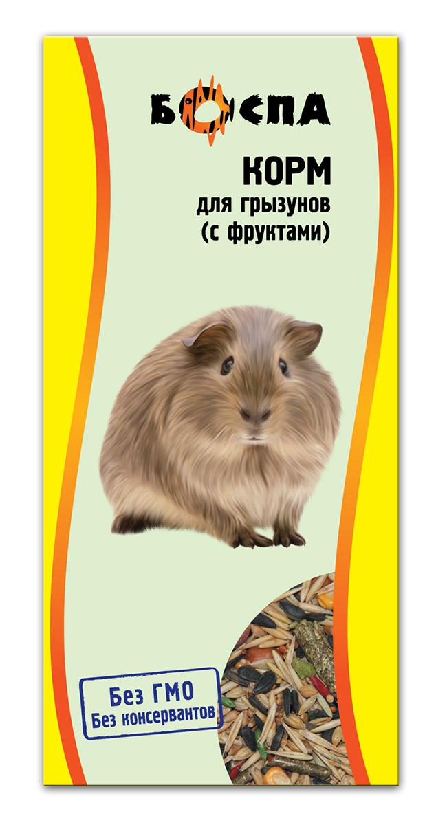 Корм для грызунов с фруктами Боспа, 500 гЕ142Полнорационный корм для домашних животных