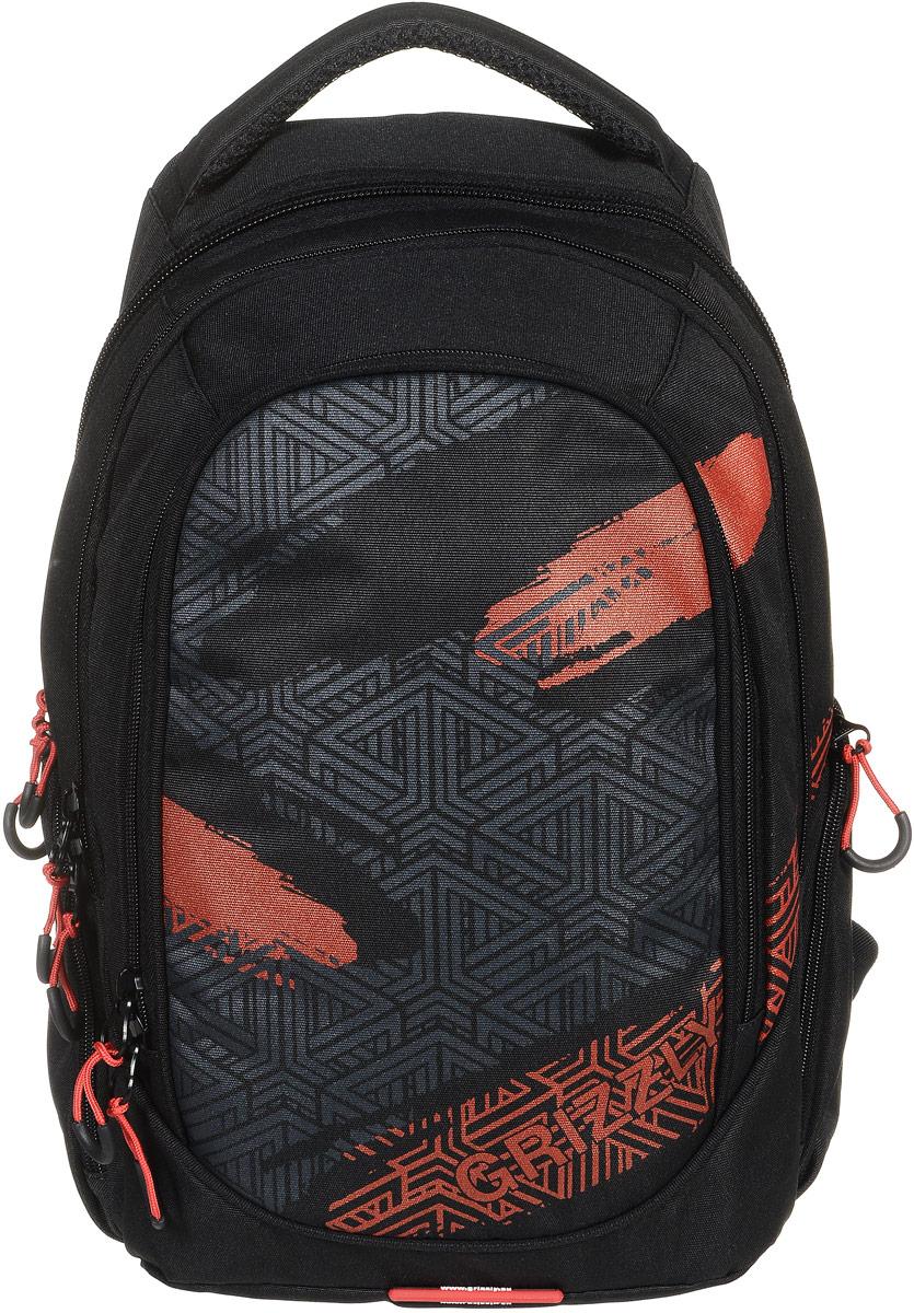 Рюкзак молодежный Grizzly, цвет: черный, красный, 32 л. RU-712-1/1RD-534-2/3Молодежный рюкзак Grizzly выполнен из высококачественного таслана. Рюкзак имеет три отделения, закрывающиеся на круговые застежки-молнии с двумя бегунками. Внутри первого отделения расположен составной пенал-органайзер, который включает в себя три открытых кармашка для канцелярских принадлежностей и сетчатый карман на застежке-молнии. В третьем отделении расположен укрепленный мягкий карман для планшета, который также дополнен прорезным карманом на застежке-молнии.Снаружи, по бокамрюкзака расположены два объемных кармана на застежках-молниях. Изделие оснащено укрепленной спинкой, анатомическими лямками, которые регулируются по длине, и укрепленной ручкой для удобства переноски.Самовыражение - одна из базовых потребностей современного человека. Оригинальные, яркие, остромодные рюкзаки от Grizzly наилучшим образом подчеркнут вашу креативность, индивидуальность и неповторимый стиль!
