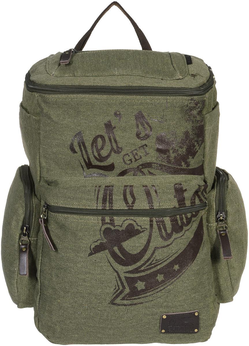 Рюкзак молодежный Grizzly, цвет: болотный, 30 л. RU-702-1/1BP-001 BKМолодежный рюкзак Grizzly изготовлен из высококачественного брезента. Рюкзак имеет одно основное отделение, закрывающееся клапаном на круговую застежку-молнию с двумя бегунками. Внутри расположен укрепленный карман для ноутбука на липучке, составной пенал-органайзер, который включает в себя: три открытых кармашка для канцелярских принадлежностей и сетчатый карман на застежке-молнии,Снаружи, с фронтальной стороны рюкзака есть объемный карман на застежке-молнии. По бокам рюкзака располагаются два объемных кармана на застежках-молниях и два накладных кармана на липучках. Также на клапане рюкзака имеется дополнительный карман на застежке-молнии и карман на спинке с застежкой-молнией. Изделие оснащено укрепленной спинкой, укрепленными лямками, регулируемыми по длине и дополнительной ручкой-петлей.Самовыражение - одна из базовых потребностей современного человека. Оригинальные, яркие, остромодные рюкзаки от Grizzly наилучшим образом подчеркнут вашу креативность, индивидуальность и неповторимый стиль!