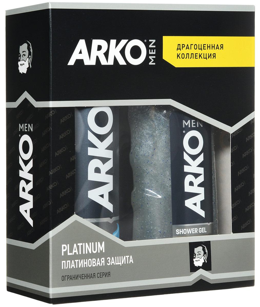 Arko Platinum: ГЕЛЬ 200мл+ГЕЛЬ для душа 250млGESS-131Гель для бритья уменьшает риск возникновения жжения кожи от бритья, благодаря формуле алое вера и маслом лаванды, для мужчин с чувствительной кожей.