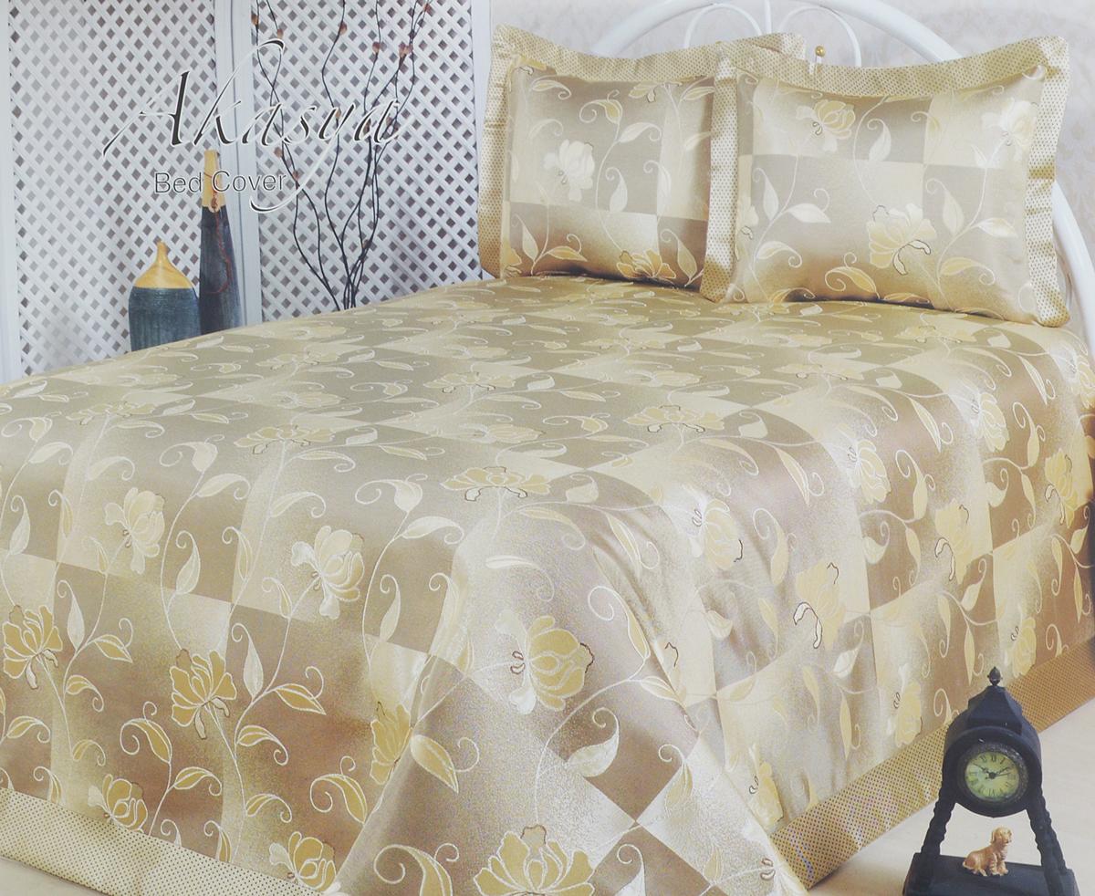 Комплект для спальни Nazsu Akasya: покрывало 240 х 260 см, 2 наволочки 50 х 70 см, цвет: горчичный16778Изысканный комплект Nazsu Akasya прекрасно оформит интерьер спальни или гостиной. Комплект состоит из покрывала и двух наволочек. Изделия изготовлены из 50% хлопка и 50% полиэстера. К комплекту для спальни прилагается подарочный пакет.Постельные комплекты Nazsu уникальны, так как они практичны и универсальны в использовании. Материал хорошо сохраняет окраску и форму. Изделия долговечны, надежны и легко стираются.Комплект Nazsu Akasya не только подарит тепло, но и гармонично впишется в интерьер вашего дома.Размер покрывала: 240 х 260 см.Размер наволочки: 50 х 70 см.