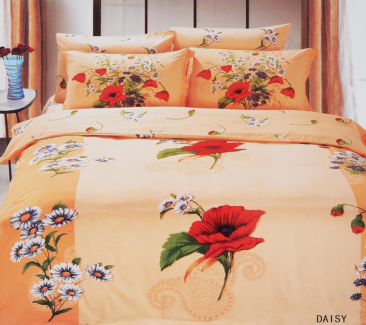 Комплект белья Le Vele Daisy, 2-спальный, наволочки 50х70740/84Комплект постельного белья Le Vele Daisy, выполненный из сатина (100% хлопка), создан для комфорта и роскоши. Комплект состоит из пододеяльника, простыни и 4 наволочек. Постельное белье оформлено оригинальным рисунком. Пододеяльник застегивается на кнопки, что позволяет одеялу не выпадать из него. Сатин - хлопчатобумажная ткань полотняного переплетения, одна из самых красивых, прочных и приятных телу тканей, изготовленных из натурального волокна. Благодаря своей шелковистости и блеску сатин называют хлопковым шелком. Приобретая комплект постельного белья Le Vele Daisy, вы можете быть уверены в том, что покупка доставит вам и вашим близким удовольствие и подарит максимальный комфорт.