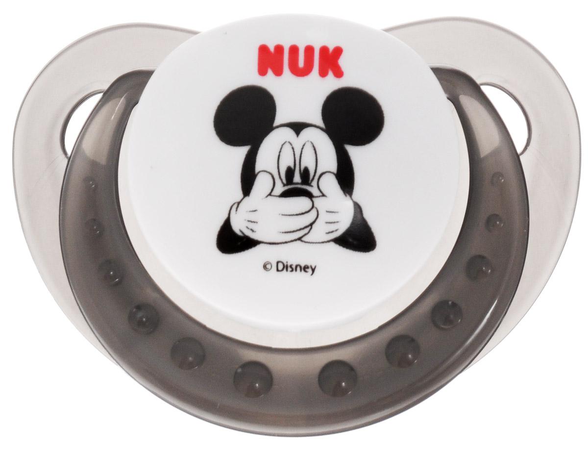 NUK Пустышка ортодонтическая Дисней Микки от 6 до 18 месяцев цвет черный белый