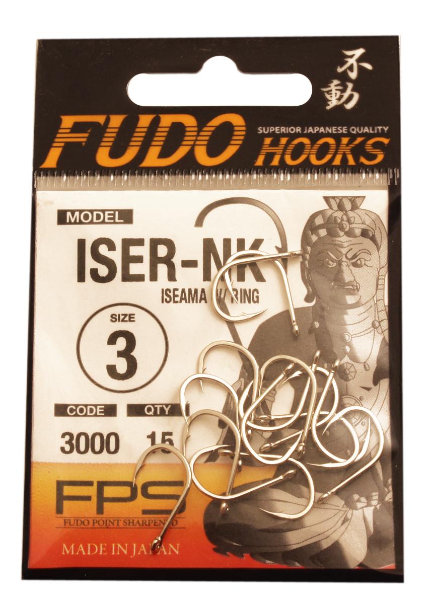 """Крючок Fudo """"Iseama W/Ring"""", №3 NK (3000), 15 шт 13449"""