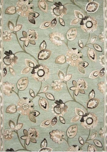 Ковер Oriental Weavers Арена, цвет: зеленый, 120 х 180 см. 2G15132Сочетание крупного рисунка на шинилле - это последние тенденции ковровой моды. Ковер от известной египетской фабрики Oriental Weavers подойдет для современных и классических интерьеров.