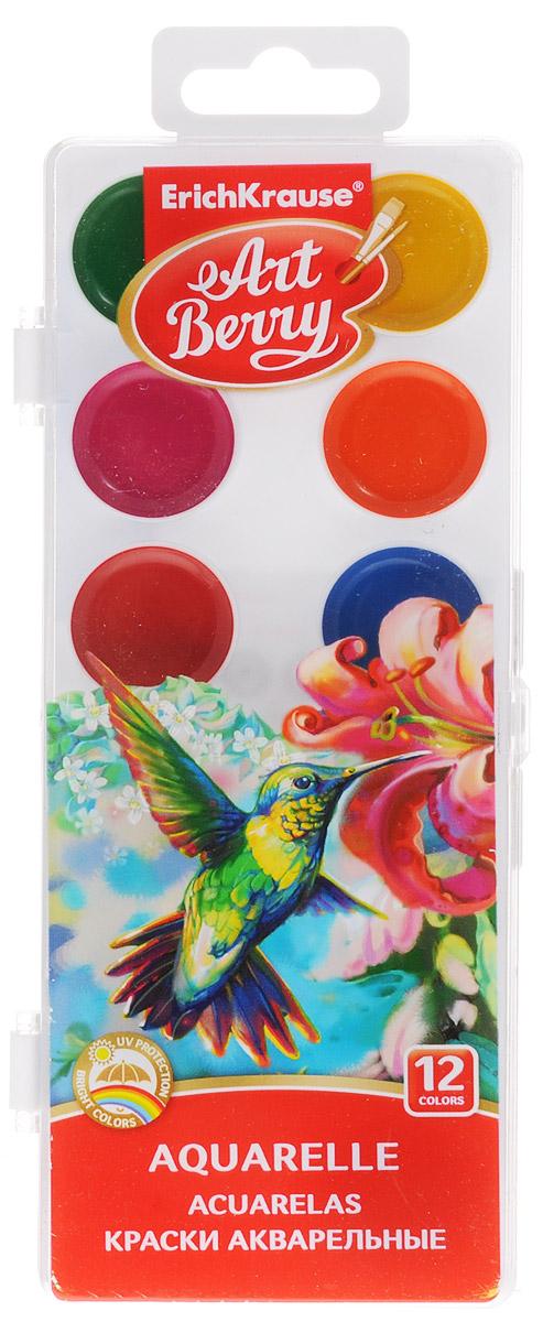 Erich Krause Краски акварельные Art Berry 12 цветовFS-54103Краски акварельные Erich Krause Art Berry идеально подойдут для детского художественного творчества, изобразительных и оформительских работ.Краски мягко ложатся на бумагу, легко смешиваются между собой, не крошатся и не смазываются, быстро сохнут. В качестве красящего элемента использованы натуральные пигменты.В процессе рисования у детей развивается наглядно-образное мышление, воображение, мелкая моторика рук, творческие и художественные способности, вырабатывается усидчивость и аккуратность.Краски поставляются в пластиковом пенале.