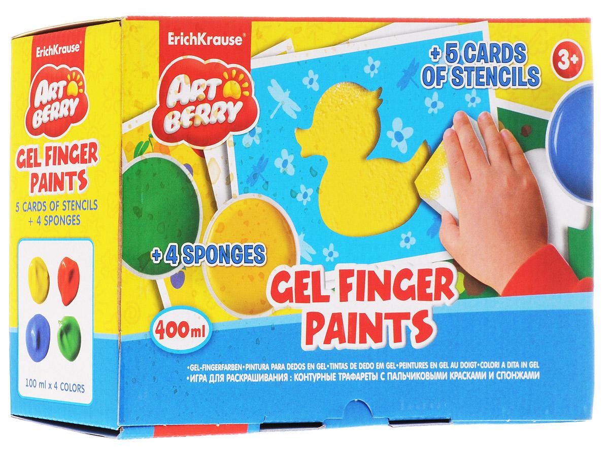 Erich Krause Набор для раскрашивания Art Berry 13 предметов39065Набор для раскрашивания Erich Krause Art Berry понравится тем, кто не боится испачкать руки в краске, ведь для раскрашивания можно использовать свои пальчики. Краска легко смывается, поэтому можно не беспокоиться о том, что цвет останется на руках. Используя трафареты, можно сделать цветные рисунки в виде грибочка, уточки, звезды, яблока и цветка. Для этого нужно приложить карточку с фигуркой к чистому листу и, выбрав понравившийся цвет, тщательно прокрасить ее спонжем или пальчиками. Данный набор поможет в развитии мелкой моторики, воображения, творческих способностей, художественных способностей, наглядно-действенного мышления.