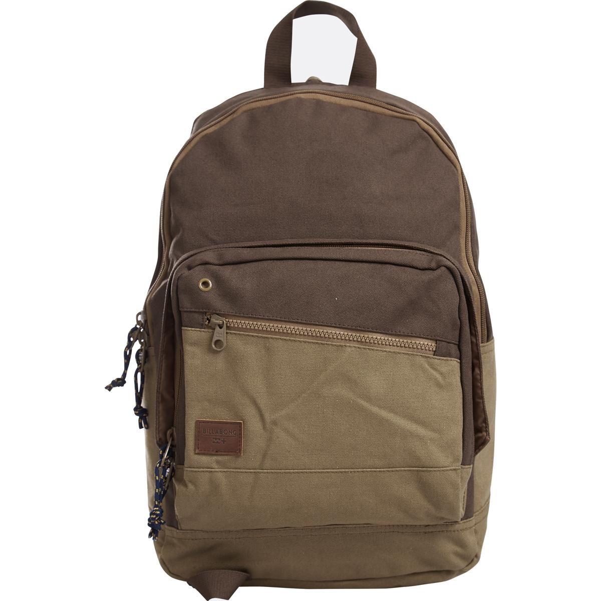 Рюкзак городской Billabong Laneway Canvas, цвет: верблюжий, 23 л. Z5BP086-7Вместительный и практичный рюкзак из 100% хлопка. Два внеших внеших кармана для мелочей, в онсновном отделение кармана для ноутбука.