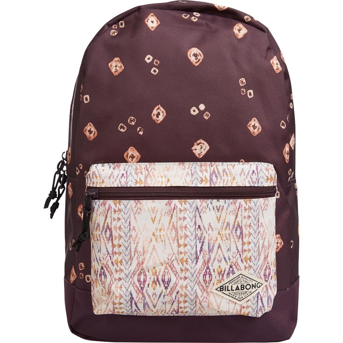 Рюкзак городской женский Billabong Study, цвет: светло-бордовый, 20 л. Z9BP040054558 ТаймырСтильный женский рюказк с необычными цветовыми решениями. Есть все самое необхадимое, отсекдля ноутбука и для мелких канцелярских принадлежностей.