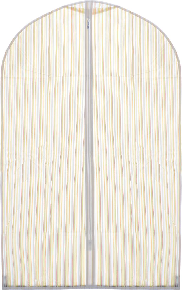 Чехол для одежды Eva Полоска, цвет: белый, желтый, красный, 60 х 92 смЕ-16201_белый, желтый, красныйЧехол для одежды Eva Полоска выполнен из материала PEVA. Чехол обеспечивает вашей одежде надежную защиту от влажности, повреждений и грязи при транспортировке, от запыления при хранении. Изделие обладает водоотталкивающими свойствами, а также позволяет воздуху свободно поступать внутрь вещей, обеспечивая их кондиционирование. Закрывается на молнию. Можно стирать при температуре до 40°C.