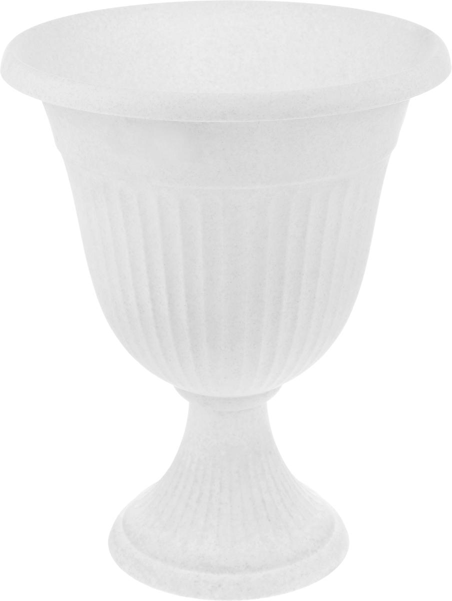 Вазон Idea Ливия, цвет: мраморный, высота 43 смZ-0307Вазон Idea Ливия изготовлен из высококачественного полипропилена (пластика). Верхняя часть съемная.Благодаря устойчивому широкому основанию вазон не упадет. Такой вазон прекрасно подойдет для выращивания растений и цветов в домашних условиях. Классический дизайн впишется в любой интерьер. Диаметр (по верхнему краю): 35 см.Высота: 43 см.Диаметр основания: 20,5 см.