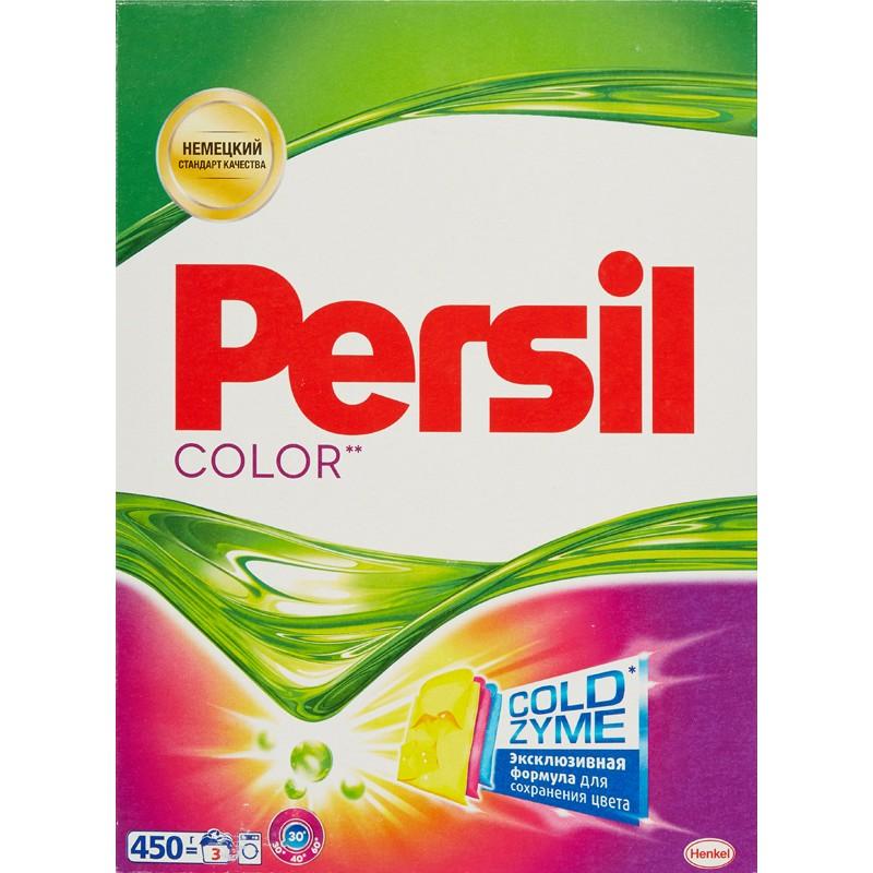 Стиральный порошок Persil Color, 450 г790009Persil Color - стиральный порошок с сильной формулой, которая содержит активные капсулы пятновыводителя. Капсулы пятновыводителя быстро растворяются в воде и начинают действовать на пятно уже в самом начале стирки.Благодаря специальной формуле Persil Color отлично удаляет даже сложные пятна, а специальные цветозащитные компоненты сохраняют яркие цвета ткани.Persil Color для безупречной чистоты Вашего белья.Состав: 5-15% анионные ПАВ;Товар сертифицирован.