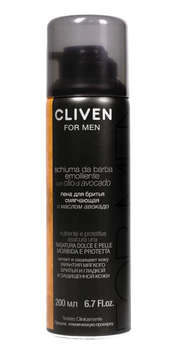 Cliven Пена для бритья смягчающая с маслом Авокадо 200мл7423Пена для бритья смягчающая с маслом Авокадо, которое содержит фитостиролы, лецитин и богато витаминами. Пена богата смягчающими веществами, обеспечивает тщательное бритье, предотвращает раздражение.
