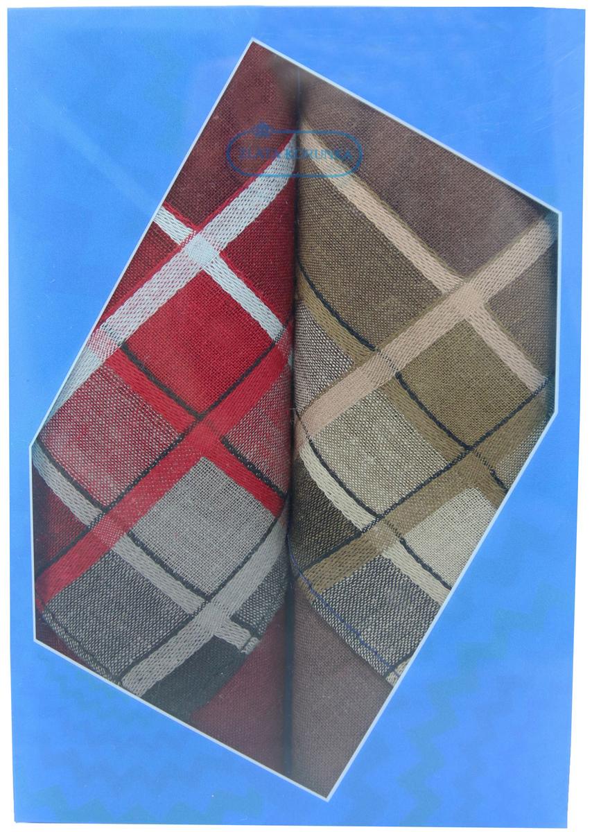Платок носовой мужской Zlata Korunka, цвет: бордовый, коричневый, 2 шт. 40213-12. Размер 38 см х 38 см40213-12Оригинальный мужской носовой платок Zlata Korunka изготовлен из высококачественного натурального хлопка, благодаря чему приятен в использовании, хорошо стирается, не садится и отлично впитывает влагу. Практичный и изящный носовой платок будет незаменим в повседневной жизни любого современного человека. Такой платок послужит стильным аксессуаром и подчеркнет ваше превосходное чувство вкуса. В комплекте 2 платка.