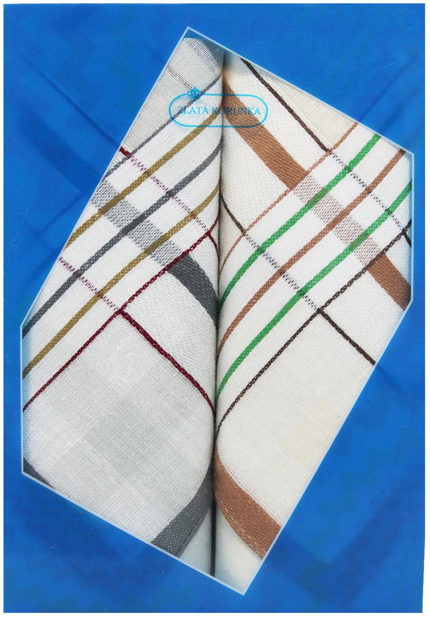 Платок носовой мужской Zlata Korunka, цвет: белый, коричневый, серый, 2 шт. 40213-22. Размер 38 см х 38 смСерьги с подвескамиОригинальный мужской носовой платок Zlata Korunka изготовлен из высококачественного натурального хлопка, благодаря чему приятен в использовании, хорошо стирается, не садится и отлично впитывает влагу. Практичный и изящный носовой платок будет незаменим в повседневной жизни любого современного человека. Такой платок послужит стильным аксессуаром и подчеркнет ваше превосходное чувство вкуса.В комплекте 2 платка.