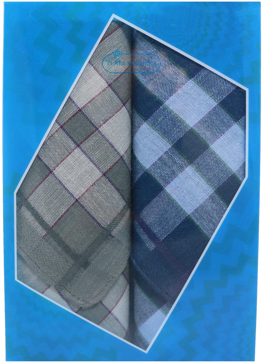 Платок носовой мужской Zlata Korunka, цвет: темно-зеленый, темно-синий, 2 шт. 40213-25. Размер 38 см х 38 см40213-25Оригинальный мужской носовой платок Zlata Korunka изготовлен из высококачественного натурального хлопка, благодаря чему приятен в использовании, хорошо стирается, не садится и отлично впитывает влагу. Практичный и изящный носовой платок будет незаменим в повседневной жизни любого современного человека. Такой платок послужит стильным аксессуаром и подчеркнет ваше превосходное чувство вкуса. В комплекте 2 платка.