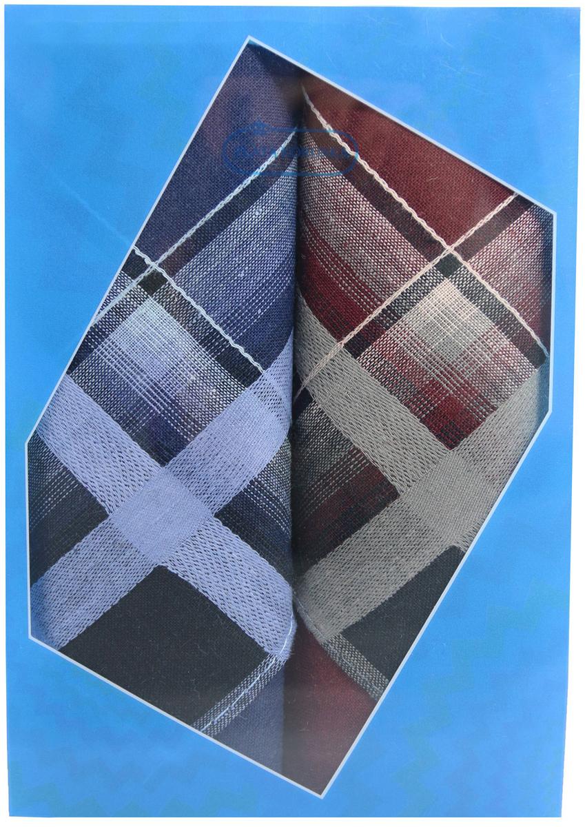 Платок носовой мужской Zlata Korunka, цвет: темно-синий, бордовый, 2 шт. 40213-3. Размер 38 см х 38 см39864|Серьги с подвескамиОригинальный мужской носовой платок Zlata Korunka изготовлен из высококачественного натурального хлопка, благодаря чему приятен в использовании, хорошо стирается, не садится и отлично впитывает влагу. Практичный и изящный носовой платок будет незаменим в повседневной жизни любого современного человека. Такой платок послужит стильным аксессуаром и подчеркнет ваше превосходное чувство вкуса.В комплекте 2 платка.