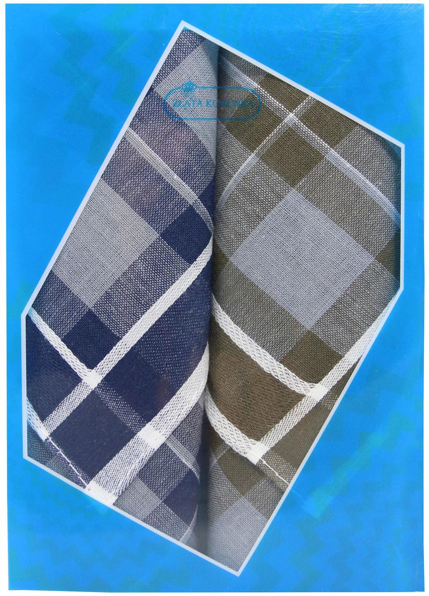Платок носовой мужской Zlata Korunka, цвет: темно-синий, темно-коричневый, 2 шт. 40213-4. Размер 38 см х 38 см40213-4Оригинальный мужской носовой платок Zlata Korunka изготовлен из высококачественного натурального хлопка, благодаря чему приятен в использовании, хорошо стирается, не садится и отлично впитывает влагу. Практичный и изящный носовой платок будет незаменим в повседневной жизни любого современного человека. Такой платок послужит стильным аксессуаром и подчеркнет ваше превосходное чувство вкуса. В комплекте 2 платка.