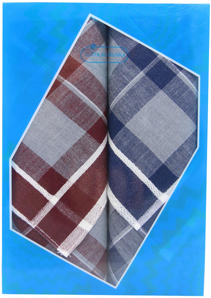 Платок носовой мужской Zlata Korunka, цвет: бордовый, темно-синий, 2 шт. 40213-5. Размер 38 см х 38 см40213-5Оригинальный мужской носовой платок Zlata Korunka изготовлен из высококачественного натурального хлопка, благодаря чему приятен в использовании, хорошо стирается, не садится и отлично впитывает влагу. Практичный и изящный носовой платок будет незаменим в повседневной жизни любого современного человека. Такой платок послужит стильным аксессуаром и подчеркнет ваше превосходное чувство вкуса. В комплекте 2 платка.