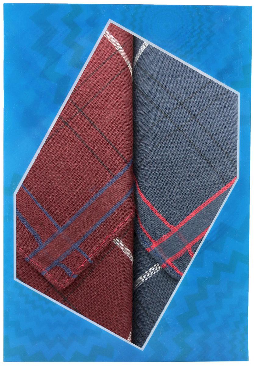 Платок носовой мужской Zlata Korunka, цвет: бордовый, темно-серый, 2 шт. 40213-7. Размер 38 см х 38 см40213-7Оригинальный мужской носовой платок Zlata Korunka изготовлен из высококачественного натурального хлопка, благодаря чему приятен в использовании, хорошо стирается, не садится и отлично впитывает влагу. Практичный и изящный носовой платок будет незаменим в повседневной жизни любого современного человека. Такой платок послужит стильным аксессуаром и подчеркнет ваше превосходное чувство вкуса. В комплекте 2 платка.