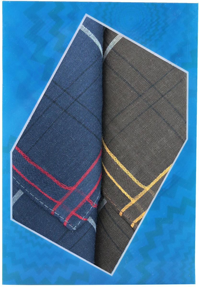 Платок носовой мужской Zlata Korunka, цвет: темно-синий, темно-коричневый, 2 шт. 40213-8. Размер 38 см х 38 см40213-8Оригинальный мужской носовой платок Zlata Korunka изготовлен из высококачественного натурального хлопка, благодаря чему приятен в использовании, хорошо стирается, не садится и отлично впитывает влагу. Практичный и изящный носовой платок будет незаменим в повседневной жизни любого современного человека. Такой платок послужит стильным аксессуаром и подчеркнет ваше превосходное чувство вкуса. В комплекте 2 платка.