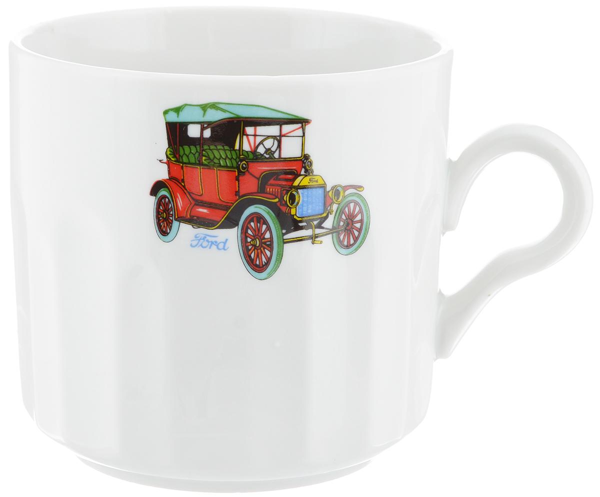 Кружка Фарфор Вербилок Машинки. Ford, 500 мл5722390Кружка Фарфор Вербилок Машинки. Ford способна скрасить любое чаепитие. Изделие выполнено из высококачественного фарфора. Посуда из такого материала позволяет сохранить истинный вкус напитка, а также помогает ему дольше оставаться теплым. Диаметр по верхнему краю: 9,5 см. Высота кружки: 9,5 см.