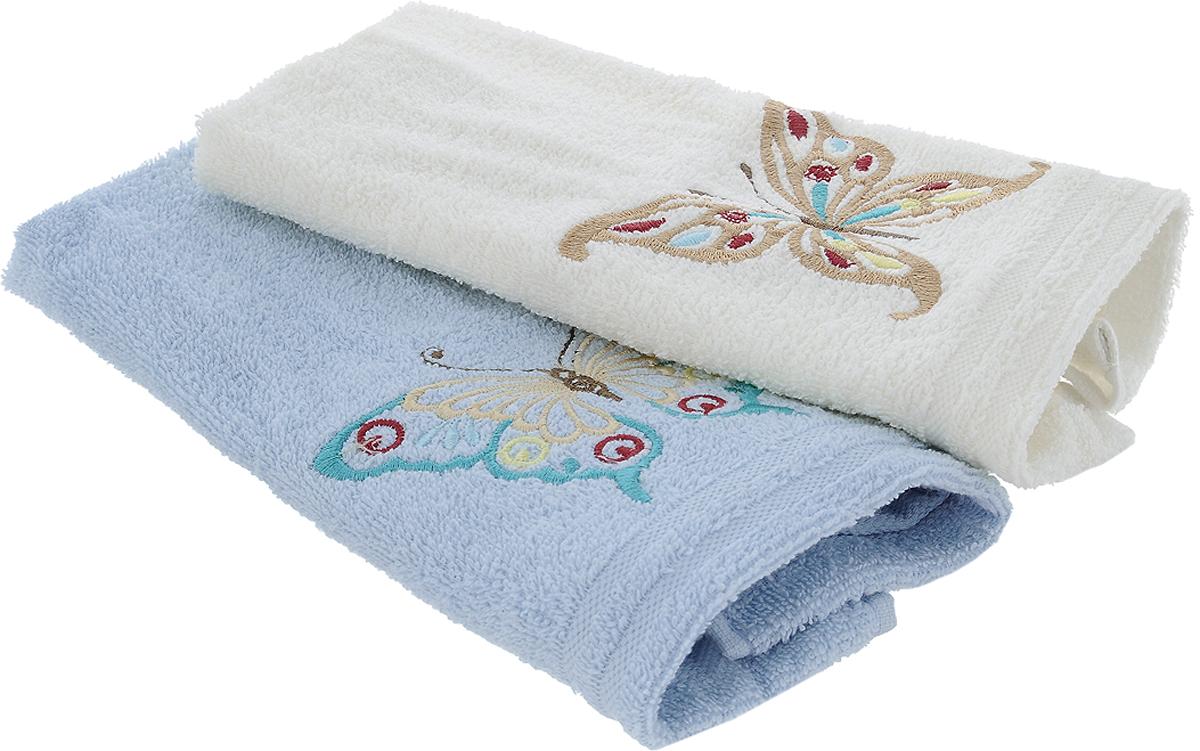 Набор кухонных полотенец Karna Moron, цвет: молочный, светло-голубой, 30 х 50 см, 2 шт718/CHAR002Набор Karna Moron состоит из 2 прямоугольных полотенец, которые выполнены из высококачественного хлопка и украшены вышивкой. Изделия гипоаллергенны, отлично впитывают влагу, быстро сохнут, сохраняют цвет и не теряют форму даже после многократных стирок. Такие полотенца очень практичны и неприхотливы в уходе. Набор Karna станет отличным помощником и украсит интерьер вашей кухни.