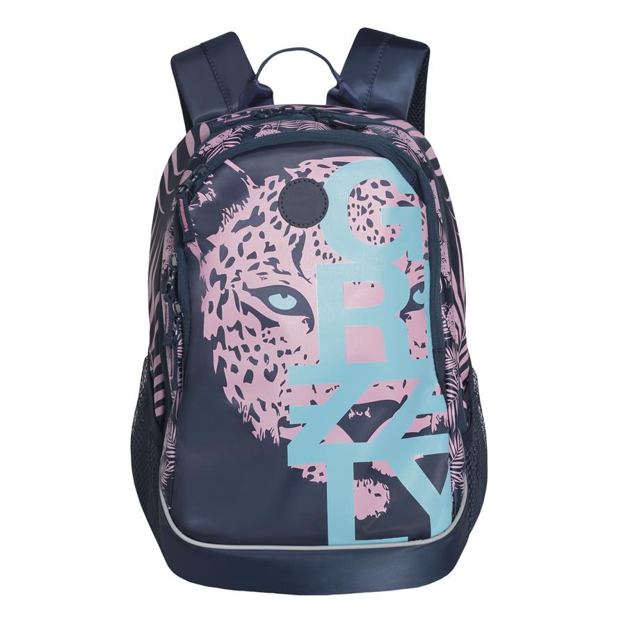 Рюкзак городской женский Grizzly, цвет: темно-синий, розовый, светло-голубой, 22 л. RD-740-1/4RD-740-1/4Рюкзак городской Grizzl выполнен из высококачественного нейлона, который не пропускает воду. Изделие оформлено оригинальным принтом. На лицевой стороне расположен вместительный карман на молнии, который содержит карман с сеткой на молнии и три открытых накладных кармана для телефона, мелочей и канцелярских товаров. Также на лицевой стороне находится вшитый карман на молнии. Рюкзак оснащен двумя боковыми карманами для переноски бутылок с водой. Изделие закрывается на застежку-молнию. Внутри расположено главное вместительное отделение, которое содержит карман на молнии.