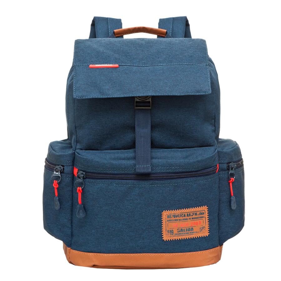 Рюкзак городской Grizzly, цвет: темно-синий, 16 л. RU-614-1/1BP-001 BKРюкзак городской Grizzl выполнен из высококачественного полиэстера. Рюкзак имеет ручку-петлю для подвешивания и две удобные лямки, длина которых регулируется с помощью пряжек.Модель выполнена с одним основным отделением, которое закрывается затягивающийся шнурок и сверху оснащена клапаном с застежкой-фастексом. Передняя стенка рюкзака дополнена накладным карманом на молнии. Боковые стенки дополнены двумя объемными карманами на застежках-молниях.Модель выполнена с укрепленной спинкой и лямками.