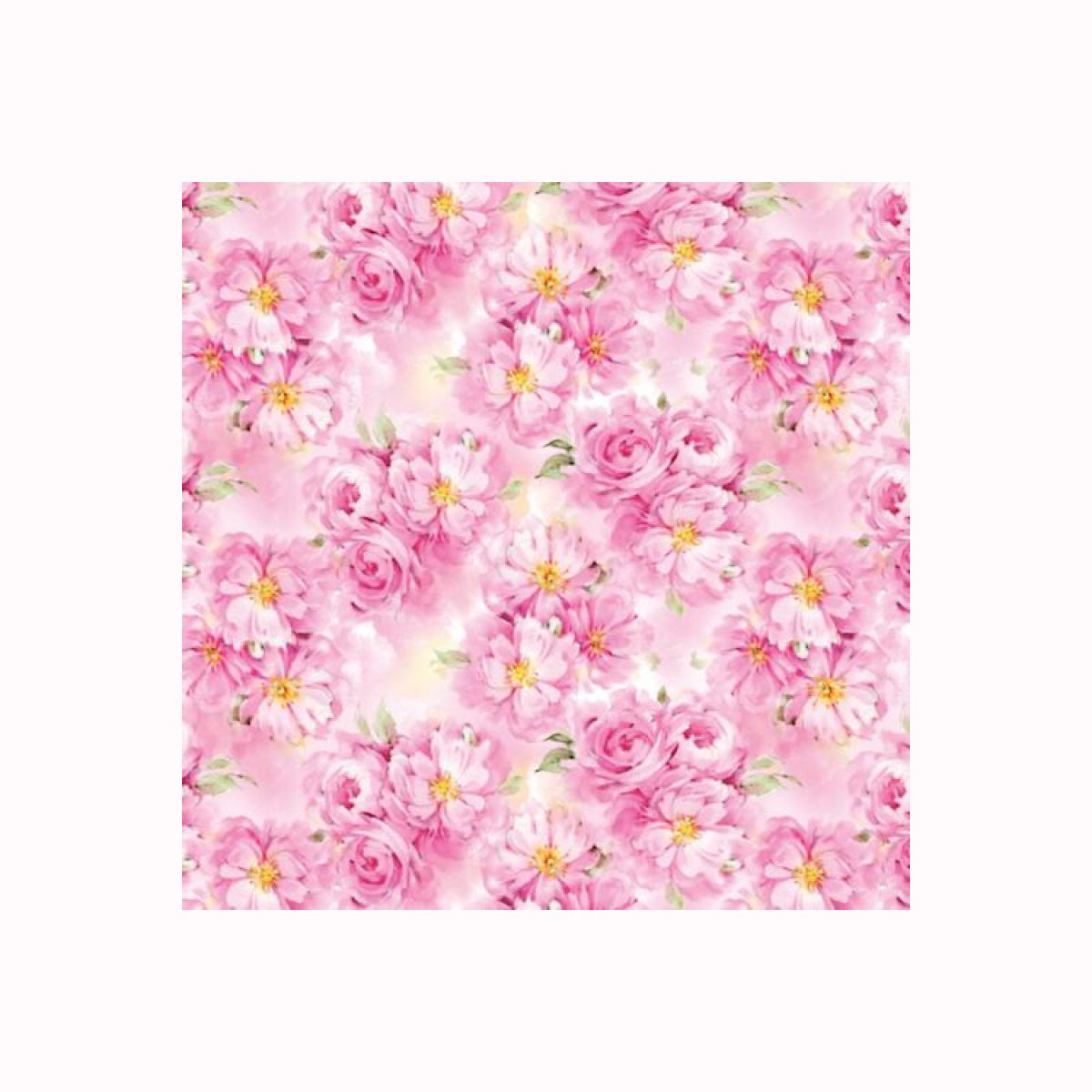 Бумага упаковочная Хобби и ты Цветущие пионы, 67,4 х 97,4 см. 583243583243