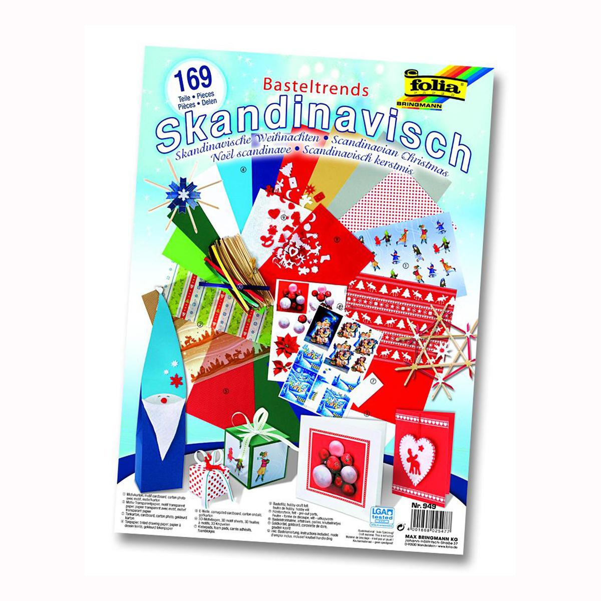 Набор для творчества Folia Скандинавское рождество, 169 элементов. 7714360 folia folia sample платье s m синий