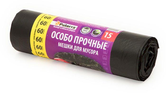 """Мешки для мусора Paterra """"Особо прочные"""", 60 л, 15 шт 106-057"""
