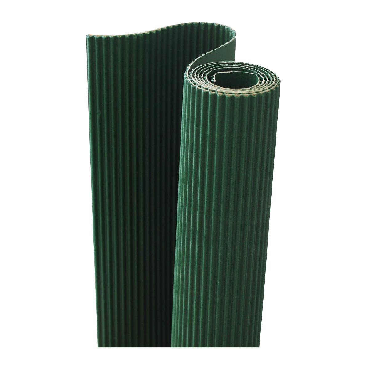 Картон гофрированный Folia, цвет: темно-зеленый, 50 х 70 см. 77108887710888_58 темно-зеленый