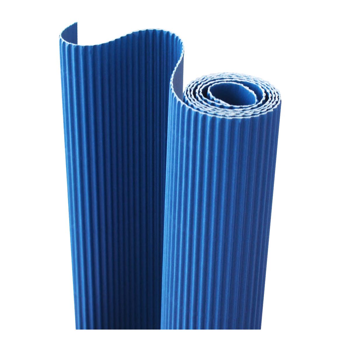 Картон гофрированный Folia, цвет: синий, 50 х 70 см72523WDДвухслойный гофрированный картон Folia в основном применяется для декорирования. Он состоит из одного слоя плоского картона и слоя бумаги, имеющую волнообразную (гофрированную) форму. Отличается малым весом и высокими физическими параметрами.Применение: для дизайнерских и оформительских работ, для декоративного детского творчества. Также такой материал хорошо зарекомендовал себя в качестве упаковочного материала.