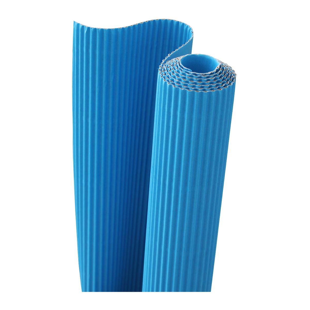 Картон гофрированный Folia, цвет: голубой, 50 х 70 см. 7710888 folia folia sample платье s m синий