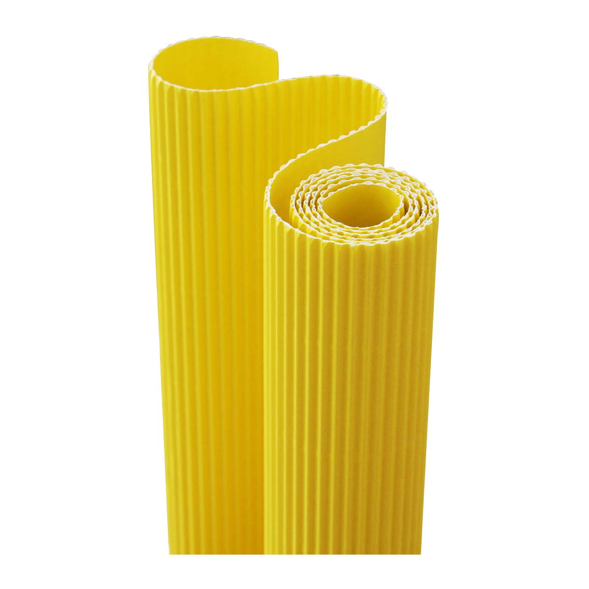 Картон гофрированный Folia, цвет: лимонный, 50 х 70 см7710888_12 лимонныйДвухслойный гофрированный картон Folia в основном применяется для декорирования. Он состоит из одного слоя плоского картона и слоя бумаги, имеющую волнообразную (гофрированную) форму. Отличается малым весом и высокими физическими параметрами. Применение: для дизайнерских и оформительских работ, для декоративного детского творчества. Также такой материал хорошо зарекомендовал себя в качестве упаковочного материала.