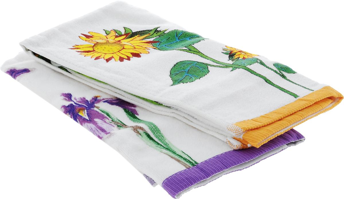 Набор кухонных полотенец Bonita Цветы. Подсолнух. Ирис, 40 х 60 см, 2 шт531-401Набор из двух махровых полотенец Bonita Цветы. Подсолнух. Ирис, изготовленных из натурального хлопка, идеально дополнит интерьер вашей кухни и создаст атмосферу уюта и комфорта. Полотенца оформлены цветочным рисунком. Изделия выполнены из натурального материала, поэтому являются экологически чистыми. Высочайшее качество материала гарантирует безопасность не только взрослых, но и самых маленьких членов семьи. Современный декоративный текстиль для дома должен быть экологически чистым продуктом и отличаться ярким и современным дизайном.