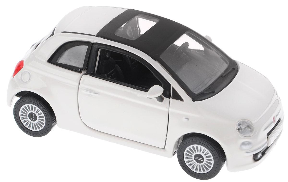 Bburago Модель автомобиля Fiat 500 цвет белый 18-43000_белый_Fiat