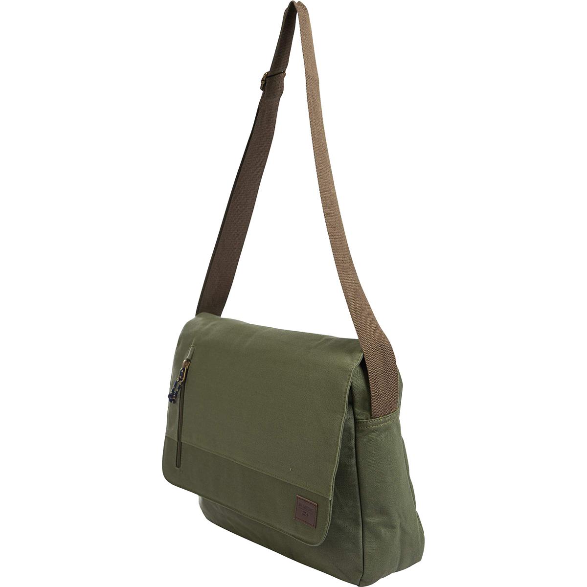 Сумка Billabong Chief Satchel, цвет: оливковый, 1,5 л. Z5SA03Z5SA03Классическая сумка через плечо, сделанная из прочного износостойкого хлопка. Одна из нескольких сумок из линейки Surfplus