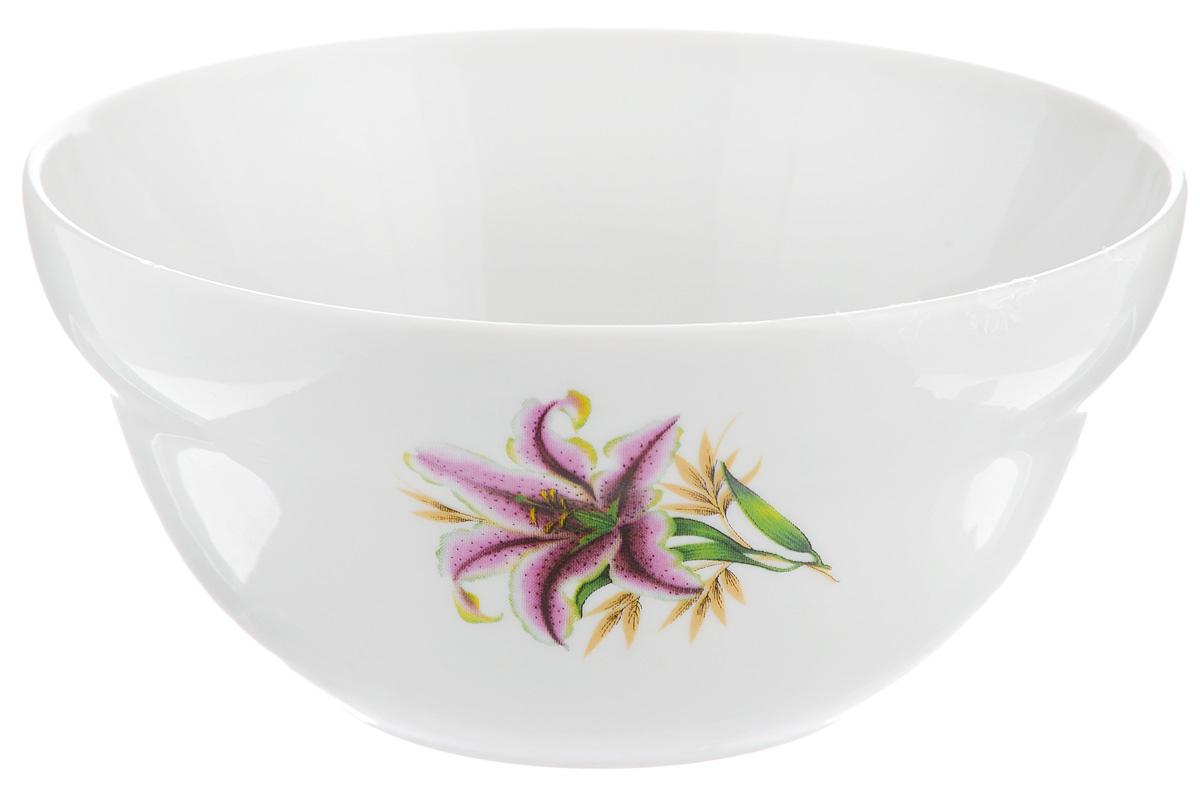 Салатник Фарфор Вербилок Розовая лилия, 360 мл10861990Салатник Фарфор Вербилок Розовая лилия изготовлен из высококачественного фарфора. Внешняя стенка оформлена красочным изображением. Такой салатник будет смотреться не только стильно, но и элегантно. Он дополнит коллекцию кухонной посуды и будет служить долгие годы. Диаметр салатника по верхнему краю: 12 см. Диаметр основания: 6 см. Высота салатника: 6 см.