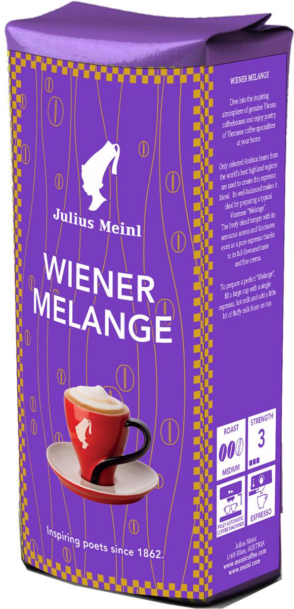 """Julius Meinl Венский меланж кофе в зернах, 250 г0120710Эта эспрессо-смесь классической венской обжарки идеально подходит для приготовления """"Мокко"""", напитка с яркими шоколадными нотами. Кофе, отобранный в регионе Серрадо (Бразилия), обладает насыщенным и интенсивным вкусом, который не оставит равнодушными тех, кто знает толк в кофе."""