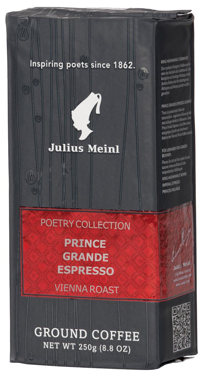 Julius Meinl Гранд Эспрессо кофе молотый, 250 г0120710Молотый кофе Julius Meinl Grande Espresso представляет собой безупречно обжаренный кофе тонкого помола с крепким шоколадным ароматом. Роскошная смесь, выполненная по итальянскому рецепту из 100% арабики, предназначена для использования в домашних эспрессо-машинах. Средняя обжарка зерен придает напитку отменно сбалансированный, мягкий вкус. Из смеси получается восхитительный кофе латтэ-маккиато с нежной текстурой. Австрийский кофе фасуется в металлизированную вакуумную упаковку, гарантирующую сохранность всех вкусовых качеств.