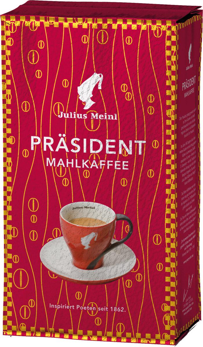 Julius Meinl Президент кофе молотый, 500 г0120710Prasident - самый популярный премиальный кофе в Австрии. Смесь высокогорной арабики из Центральной и Южной Америки с ярким, запоминающимся вкусом.