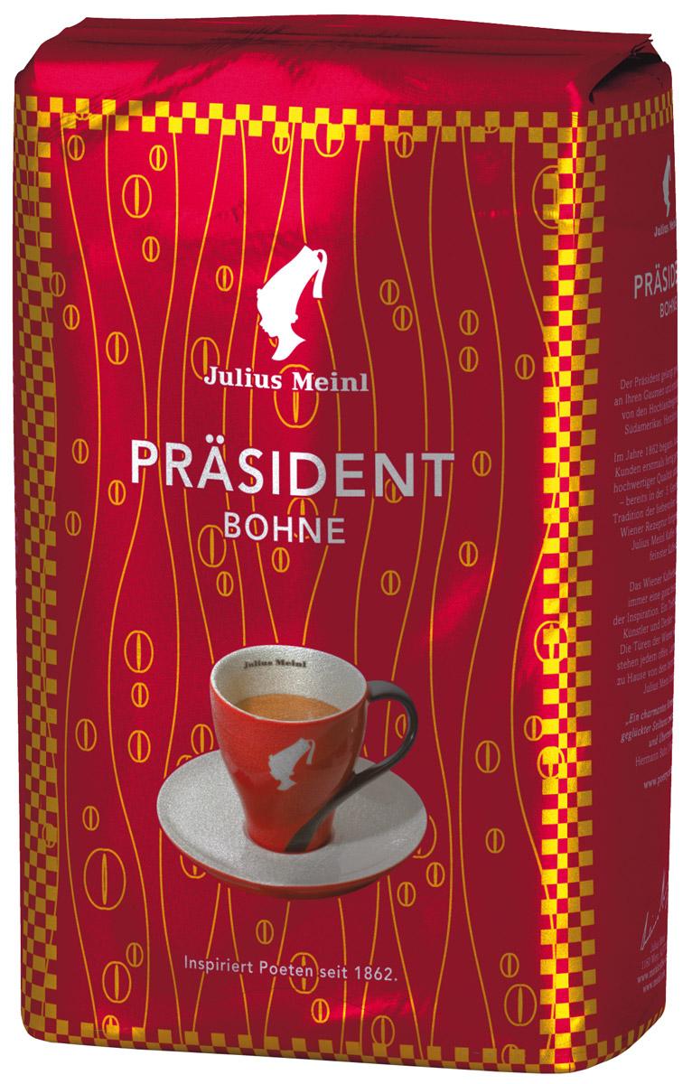 Julius Meinl Президент кофе в зернах, 500 г47PRASIDENT – самый популярный премиальный кофе в Австрии. Смесь высокогорной арабики из Центральной и Южной Америки с ярким, запоминающимся вкусом.