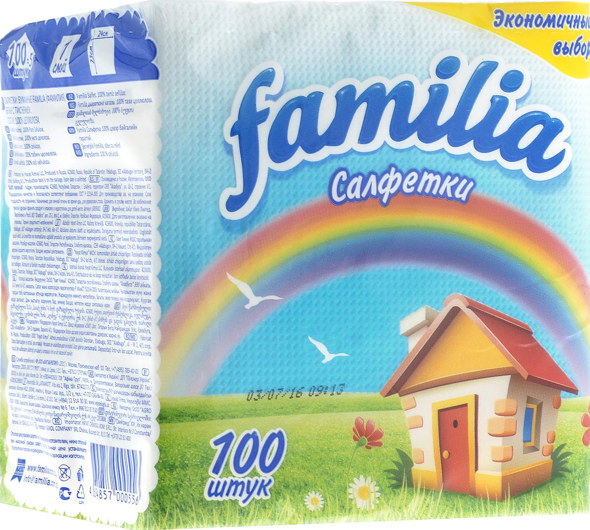 Салфетки бумажные Familia Радуга, однослойные, 23 х 24 см, 100 шт7094Однослойные бумажные салфетки Familia Радуга мягкие, но в то же время прочные. Изделия выполнены из первичного волокна (100% целлюлоза). Они подходят для косметического, санитарно-гигиенического и хозяйственного назначения. Обладают хорошими впитывающими свойствами. Салфетки красиво оформят сервировку стола. Размер салфетки: 23 х 24 см. Количество слоев: 1.