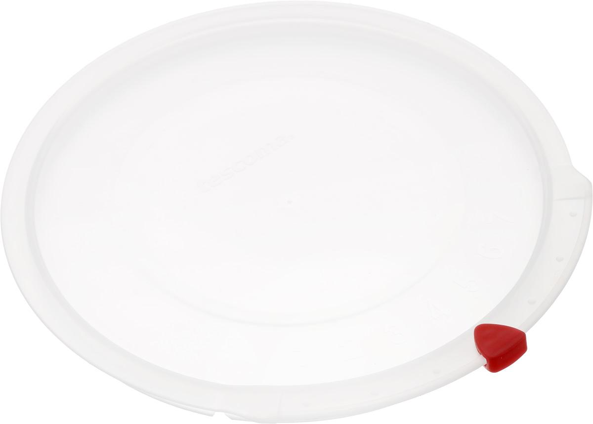 Крышка Tescoma Unicover, диаметр 18 см782818Крышка Tescoma Unicover используется при хранении еды, для закрытия высоких кастрюль, кастрюль и ковшей из нержавеющей стали. Плоская форма крышки позволяет складывать посуду в целях экономии места в холодильнике. Пища, закрытая пластиковой крышкой, не высыхает и не впитывает запахи других продуктов питания. На крышке имеется семидневный датировщик для индикации с первого дня хранения. Изделие выполнено из пластмассового материала, предназначенного для медицинских и фармацевтических целей. Можно мыть в посудомоечной машине. Подходит для кастрюль диаметром 18 см. Диаметр крышки (по верхнему краю): 19,5 см.
