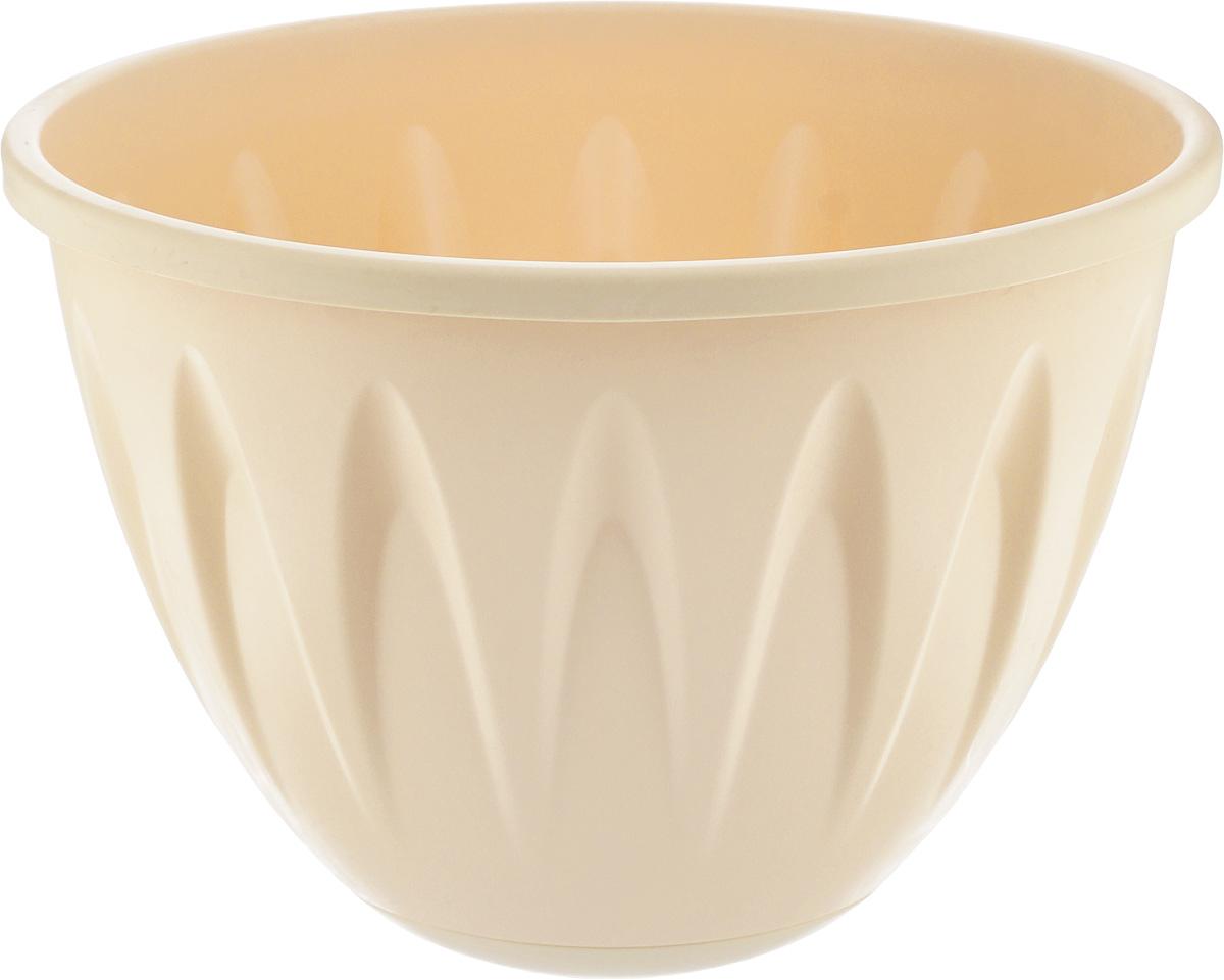 "Idea (М-пластика) Кашпо подвесное Idea ""Алиция"", с поддоном, цвет: белая глина, диаметр 22 см М 3115"