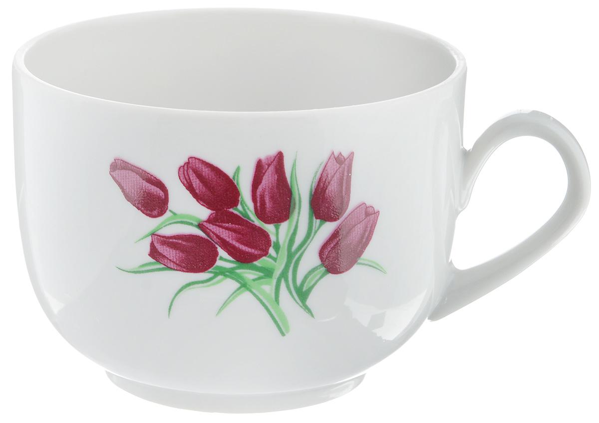 Чашка чайная Фарфор Вербилок Тюльпаны, 250 мл115610Чайная чашка Фарфор Вербилок Тюльпаны изготовлена из высококачественного фарфора и украшена цветочным рисунком. Она отвечает всем требованиям людей с широкой душой и хорошим аппетитом. Такая чашка прекрасно подходит как для ежедневных трапез, так и для подарков дорогим друзьям. Диаметр по верхнему краю: 8,5 см. Высота стенки: 6,5 см.